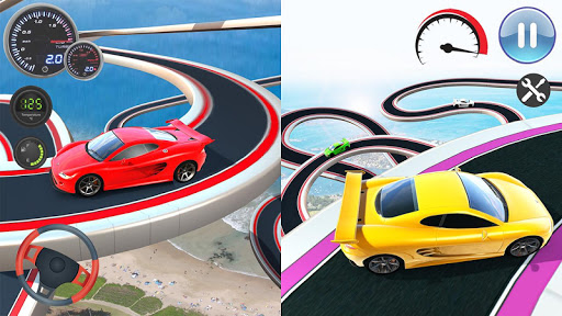 Speed Car Racing Stunts- Impossible Tracks screenshot 3