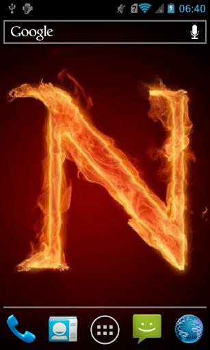 Fiery letter N Live WP