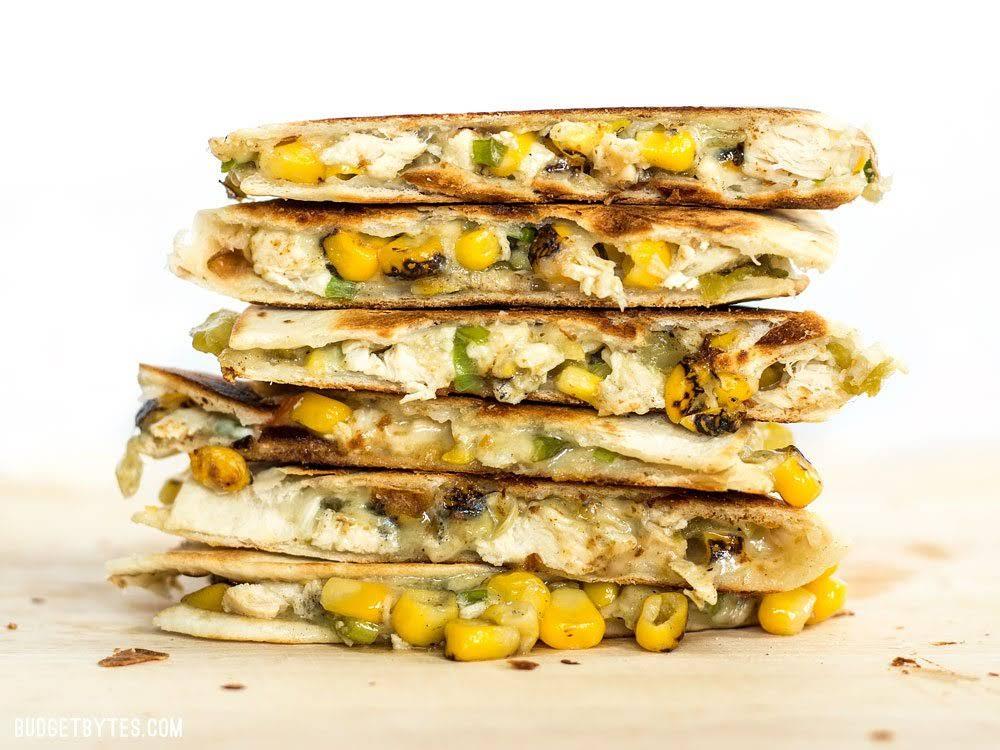 Roasted Corn Quesadillas