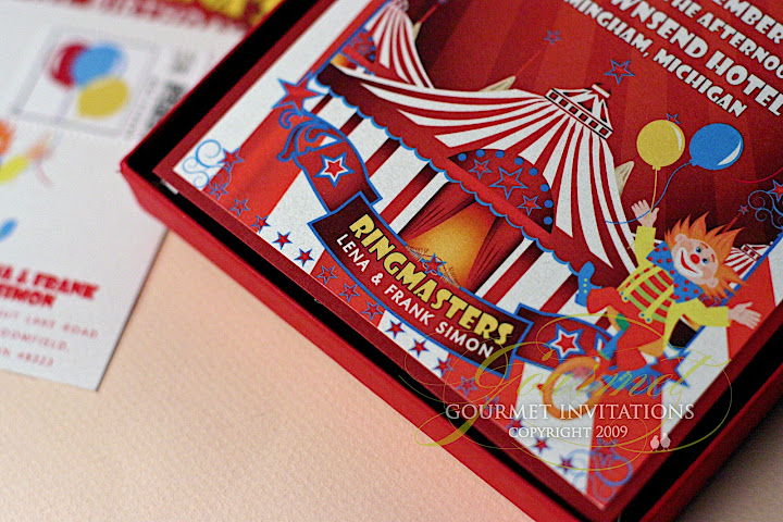 Big Top Birthday Invitations Carnival 1st Party Red