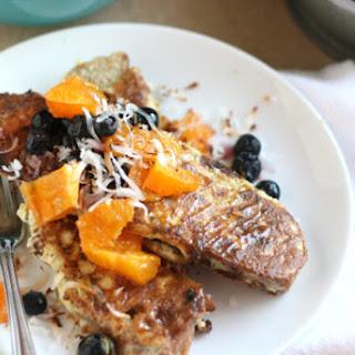 Ambrosia French Toast with Orange-Blueberry Relish