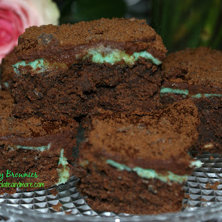 Creme de Menthe Thin Mint Brownies