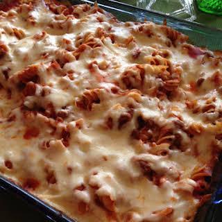 Pizza Pasta Casserole.