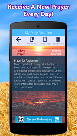 My Daily Devotion - Bible App & Caller ID Screen Screenshot