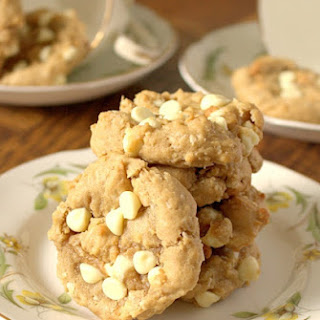 Coconut Cream Cheese White Chocolate Chip Cookies.