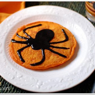Pumpkin Pancakes with Black Cinnamon Syrup