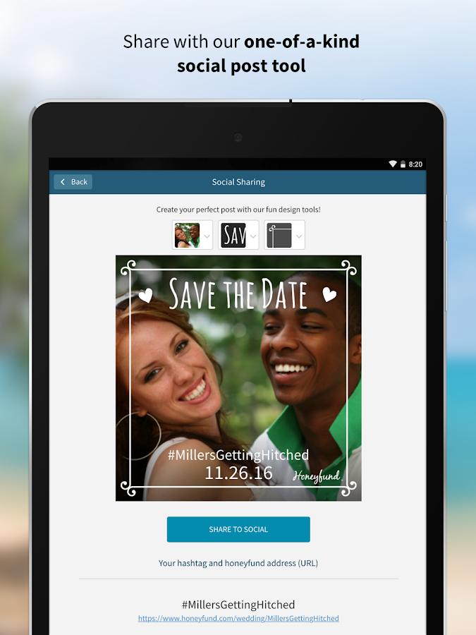 Honeyfund Wedding Registry Screenshot