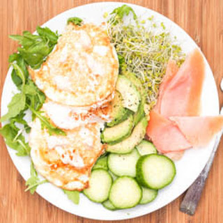 Over Easy Eggs with Smoked Salmon, and Veggies {Gluten-Free, Dairy-Free}.