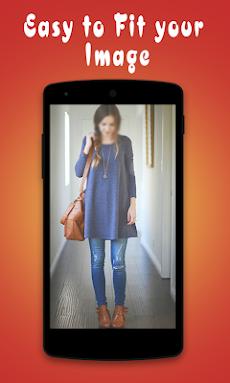 ジーンズで美しい女の子:ジーンズアプリ写真エディタのおすすめ画像2