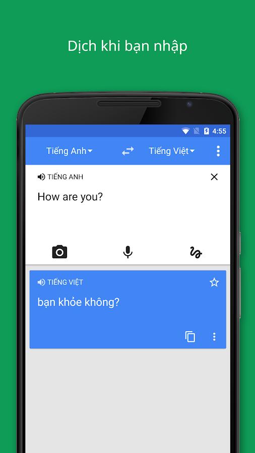 Google Dịch- ảnh chụp màn hình