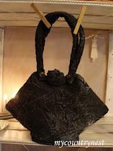 Photo: borsa esagono in tessuto pesante a rilievo