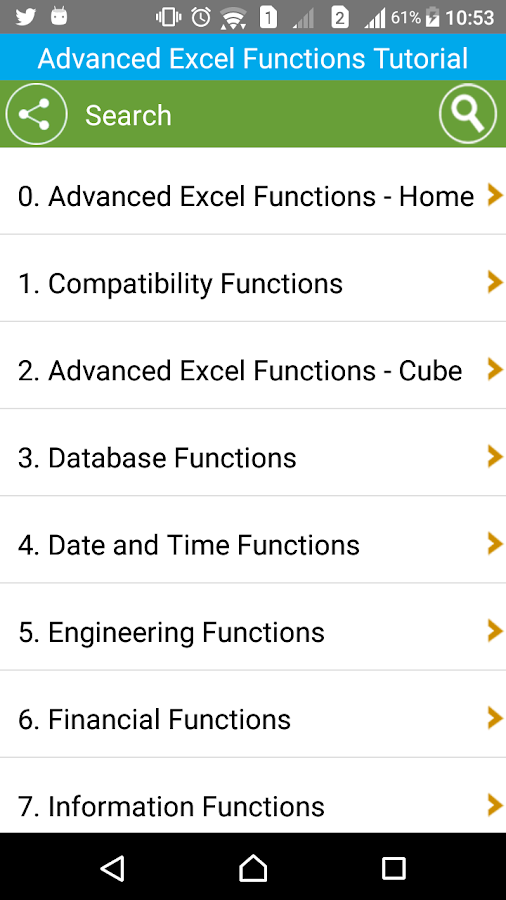 Guide Advanced Excel Functions- screenshot