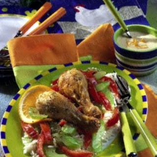 Hühnerkeulen mit Tomaten-Selleriegemüse (Diabetiker)