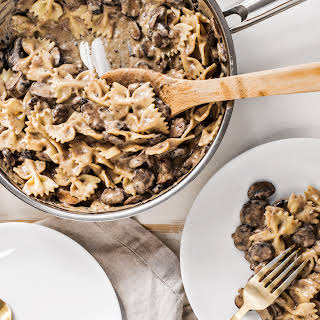 Make A Hearty Vegan Mushroom Stroganoff.