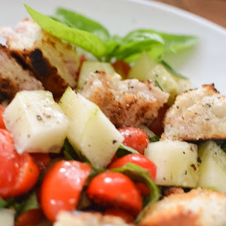Tomato Basil Panzanella Salad with Grilled Bread