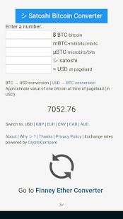 Satoshi Bitcoin Converter - náhled