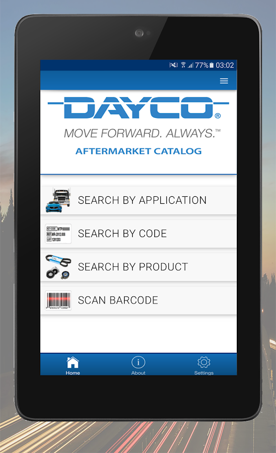 Dayco Catalog: captura de pantalla