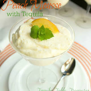 Peach Mousse {with Tequila}.