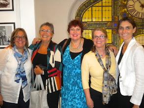Photo: Farewell Luncheon at the restaurant at Mas Puro Verso: Beatriz Greco, Ady Marrero, Maria Blanco Pate, Mary Lou McCloskey, Patricia Vargas