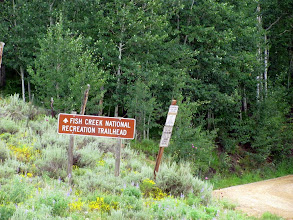 Photo: The road to the trailhead and campground