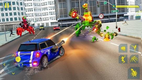 Cat Robot Car Game – Car Robot War 3