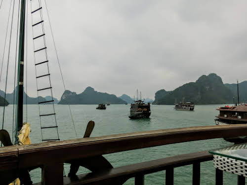 View of Halong Bay from the sundeck