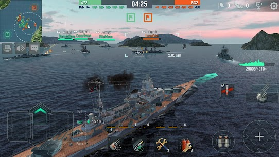 World of Warships Blitz 0.7.3 Apk (Unlimited Money) MOD 5