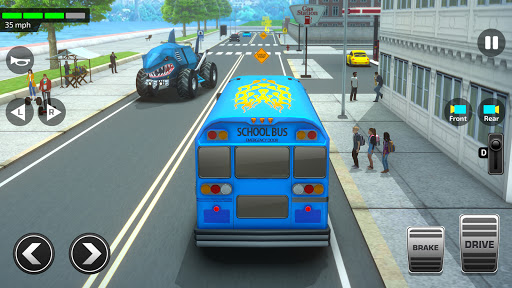 Super High School Bus Driving Simulator 3D - 2020 2.5 screenshots 3