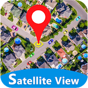 GPS Satellite Map, Live Navigation & Speedometer