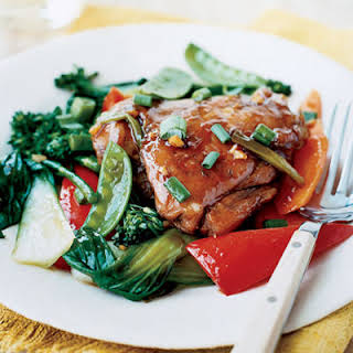 Red-Cooked Chicken with Stir-fry Vegetables, Slow Cooker-Style.