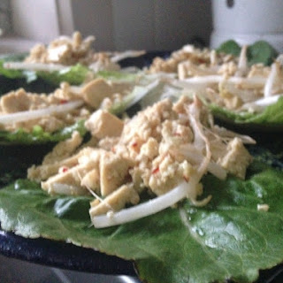 Seven Minute Tofu Lettuce Cups