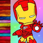 Coloring Iron Kids Man
