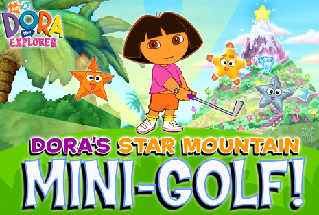 Nick Jr. Dora Star Mountain Mini Golf