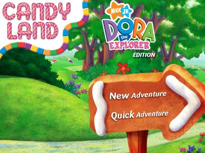 Nick Jr. Dora's Candy Land Game