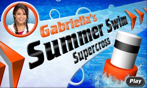Disney High School Musical Gabriella's Summer Swim Supercross Game