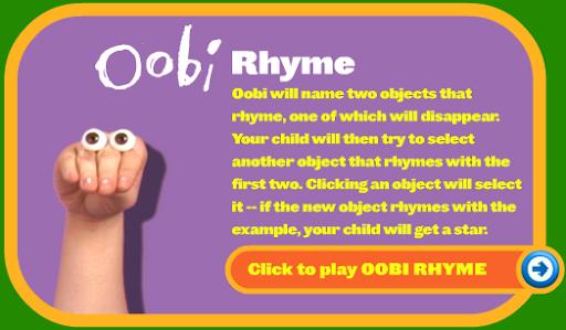 Noggin Oobi Rhyme Game