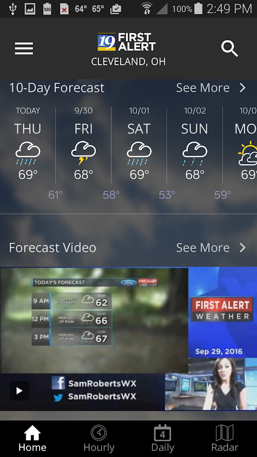 Cleveland19 FirstAlert Weather- screenshot