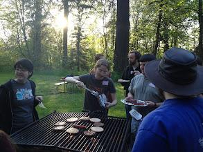 Photo: The OSU LUG hosted a BBQ after. Mmmm burgers.