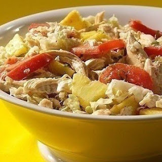 Salad With Chicken And Pineapple.