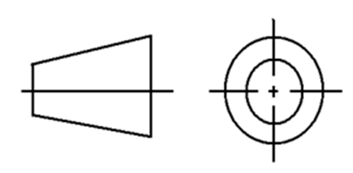 Symbol for First Angle Projection