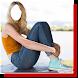 Women in Jeans Photo Frame