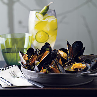 Mussels with Black Bean and Chile Sauce.
