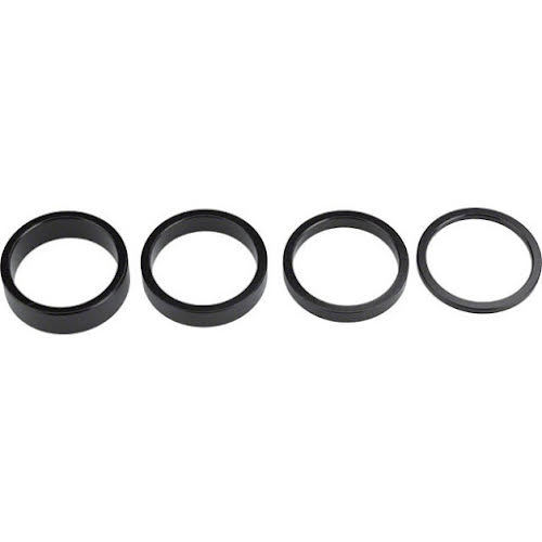 "Wheels MFG 1-1/8"" 4-Piece Headset Spacer Kit Black"