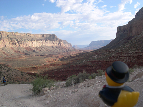 Photo: see that little canyon in the middle? it is about a 10 mile hike total...