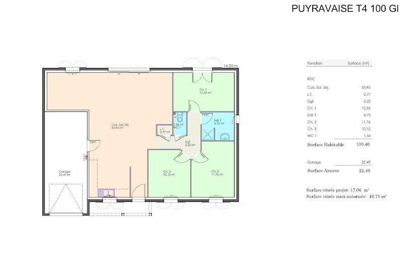 Vente Terrain + Maison - Terrain : 430m² - Maison : 100m² à Luçon (85400)