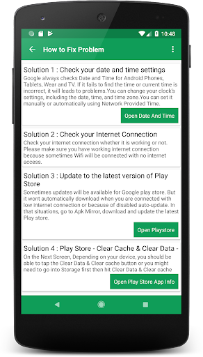 Play Services & Play store Information 6.0 screenshots 3