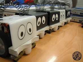 Photo: 5 Infante Robots aligned
