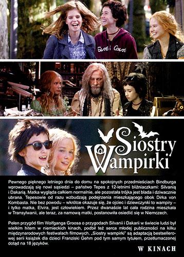 Tył ulotki filmu 'Siostry Wampirki'