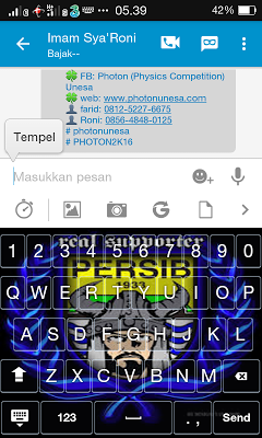 Keyboard Persib Bandung Viking - screenshot