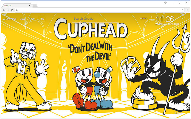 Cuphead Wallpaper New Tab Themes